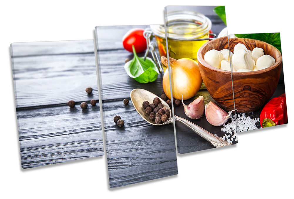 Italian Cooking Ingrotiants Picture MULTI CANVAS WALL ART Print