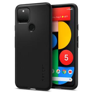Google-Pixel-5-Case-Spigen-Thin-Fit-Protective-Cover-Black