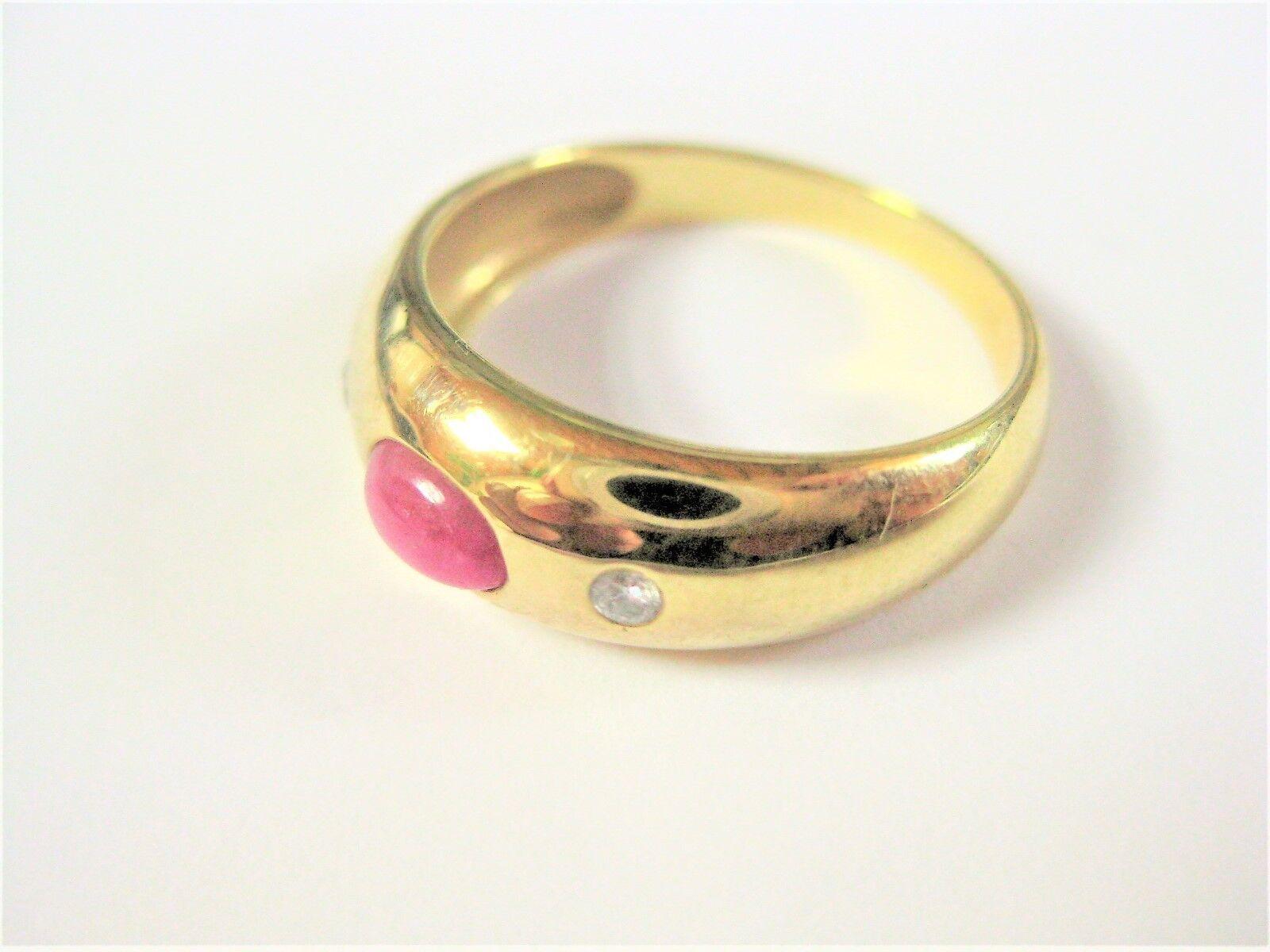Anello Anello Anello oro 333 con rubino e brillanti 2 57 G bf34d4
