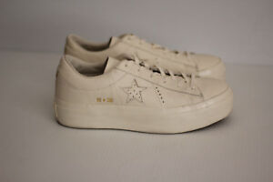 converse one star white platform