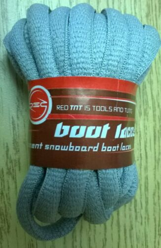 SNOWBOARD BOOT LACES RED TNT 240cm Gray Replacement NEW