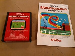 BARNSTORMING by ACTIVISION for Atari 2600 ▪︎ CARTRIDGE AND MANUAL ▪︎