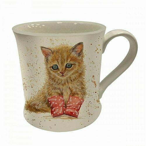 Bree Merryn Marmalade Ginger Kitten Fine China Mugs