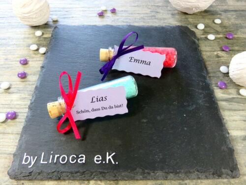 *Gastgeschenk Reagenzglas Taufe Hochzeit Geburtstag Jubiläum Personalisiert TOP*