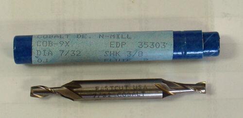 """Fastcut 7//32/"""" 2 Flute DE Cobalt Endmill #81903 35303 *USA Made"""