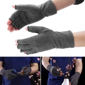 Health Magnetic Anti Arthritis Compression Therapy Gloves Hands Pain