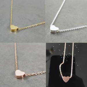 1x-Plaque-Or-Coeur-Pendentif-Bib-Statement-Chaine-Collier-Femme-Fashion-Jewelry