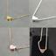 1x-Plaque-Or-Coeur-Pendentif-Bib-Statement-Chaine-Collier-Femme-Fashion-Jewelry miniature 1