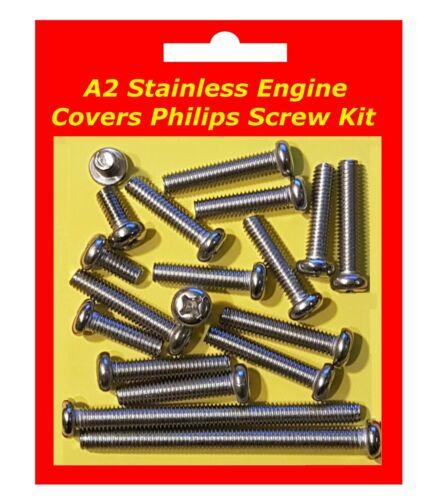 Stainless Philips Engine Covers Kit Yamaha CT3