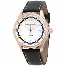 Mens Frederique Constant Healey White Dial Leather Strap Watch FC303WGH5B4