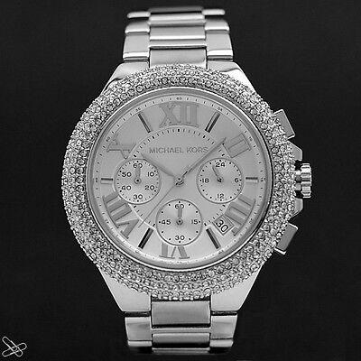 Michael Kors MK5634 Damenuhr Camille Chronograph Farbe: Silber - Kristall Besatz