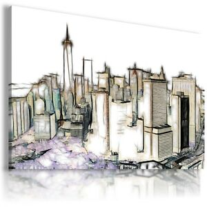 NEW YORK CITY BRIDGE View Canvas Wall Art Picture Large SIZES  L83 MATAGA