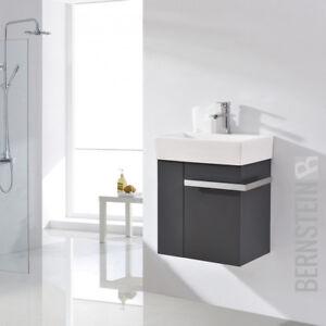 badm bel set badezimmer unterschrank waschtisch badschrank g ste wc anthrazit ebay. Black Bedroom Furniture Sets. Home Design Ideas
