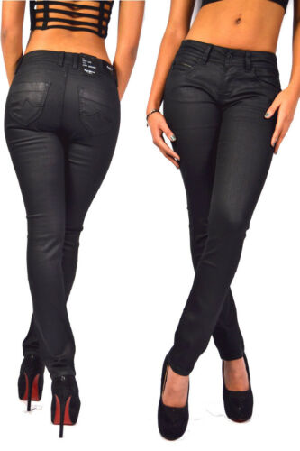 schwarz NEU Pepe Jeans NEW BROOKE WD8 Black coated Stretch Denim