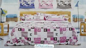 AMBROSIANA-Quick-Completo-letto-Lenzuola-100-Cotone-HOME-Made-in-Italy