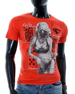 Mens-Cipo-amp-Baxx-printed-T-Shirt-tattooed-marilyn-in-Bikini-Cotton-3XL-ONLY-SALE