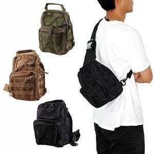 Tactical Men Utility Hiking Travel Shoulder Sling Pouch Backpack ...