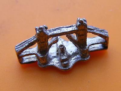 J vintage plata esterlina encanto sombraro llaves Novia Novio barco fútbol Colone