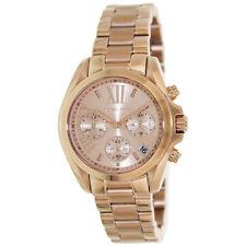 Michael Kors MK5799 Womens Bradshaw Mid-Size Rose Golden Steel Chronograph Watch
