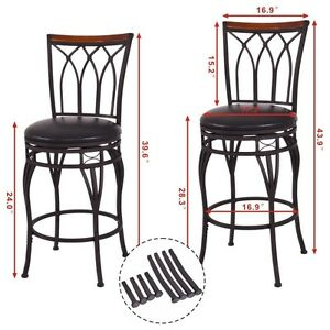 Awe Inspiring Details About 24 28 Vintage Adjustable Height Swivel Bar Stool Padded Seat Bistro Pub Chair Gamerscity Chair Design For Home Gamerscityorg