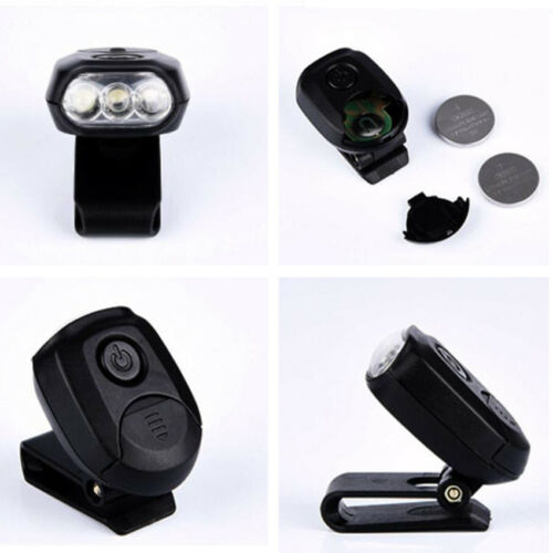 Portable 3-LED Clip On Hat Bright Light Cap Lamp Cycling Fishing Camping Outdoor