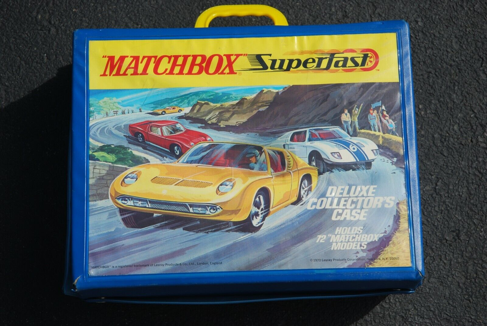 Vintage Matchbox SuperFast 1970 Deluxe Collector's Case w  61 Asstd. Vehicles