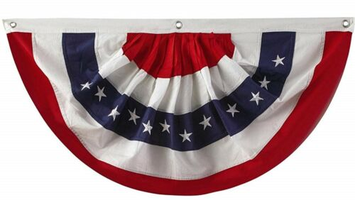 """Traditional Red White /& Blue Flag Bunting Large 72/"""" x 36/"""" Patriotic Decoration"""