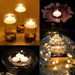 100-Round-Floating-Candle-Disc-Floater-Candles-Wedding-Party-Home-Decor-Unscent