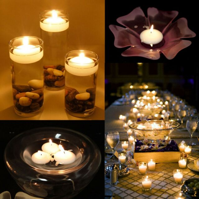 100 Round Floating Candle Disc Floater Candles Wedding Party Home Decor Unscent