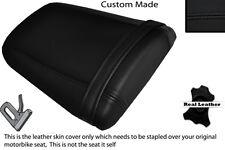 Negro Stitch personalizado se adapta a Honda Cbr 600 Rr5 rr6 05-06 Trasera de piel cubierta de asiento