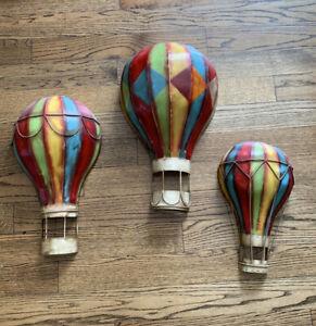 Elements-Hot-Air-Balloons-Metal-Wall-Decor-Wall-Art-Hanging-Set-of-3
