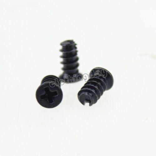 50Pcs M5X10 Black Screws PC Case Fan Mounting or Fan Grill Guard Screw