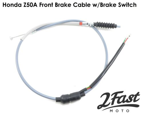 2FastMoto Honda Z50A Gray Front Brake Cable with Brake Switch 45450-045-672 NEW