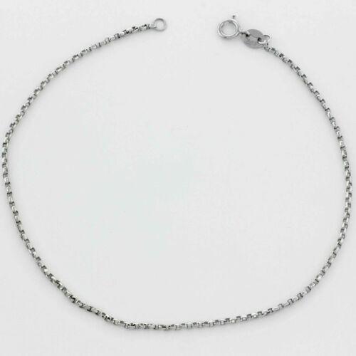 750er Weiß Gold Anker Armband Poliert Extra Dünn 1mm Rhodiniert Damen