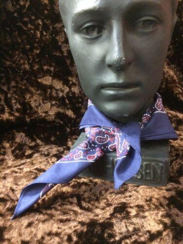 "Blue//red Paisley Bandana in 100/% Cotton 22/"" square Snuff Hankerchief"