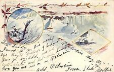 NIAGARA FALLS  NEW YORK IN WINTER OELWINE IOWA TO CALIFORNIA POSTCARD 1902