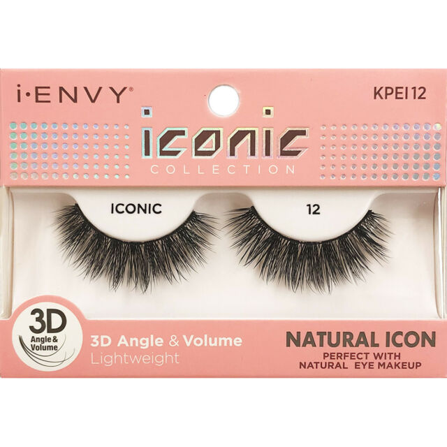 d14867b914b i ENVY KISS ICONIC 3D ANGLE&VOLUME BLACK STRIP FALSE EYELASHES NATURAL ICON  12