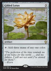 The Gathering MTG Dominaria Gilded Lotus X4 M//NM Magic