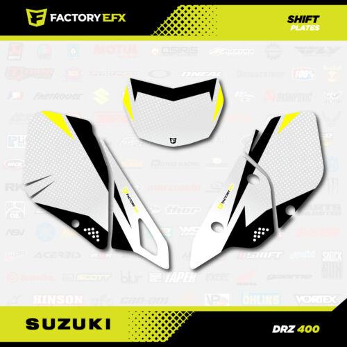 Yellow Shift # Number Plate Graphics Kit fits Suzuki DRZ400SM Drz400s drz400 DRZ