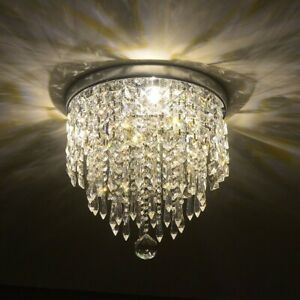 Details About Glam Chandelier Kitchen Small Crystal Chandeliers Ceiling Light Bathroom Closet