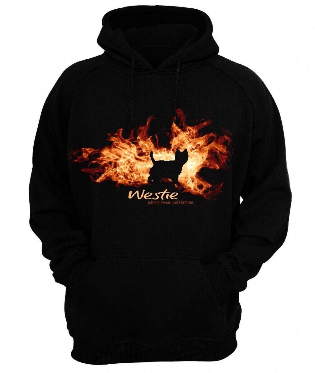 Sweatshirt WESTIE FEUER UND FLAMME by Siviwonder Hoodie  | Neu  | Zahlreiche In Vielfalt  | Won hoch geschätzt und weithin vertraut im in- und Ausland vertraut