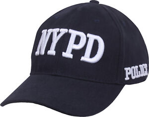 Official NYPD Police Cap, Navy Blue New York Licensed Department Hat Adjustable