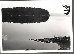 VINTAGE-PHOTOGRAPH-1941-PERKINS-COVE-MAINE-HARBOR-BAY-SCENIC-VIEW-OLD-PHOTO