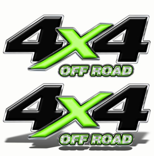 4X4 OFF ROAD Truck Bed DECALS STICKERS Green Graphics Bedside Tailgate Mk004OR4