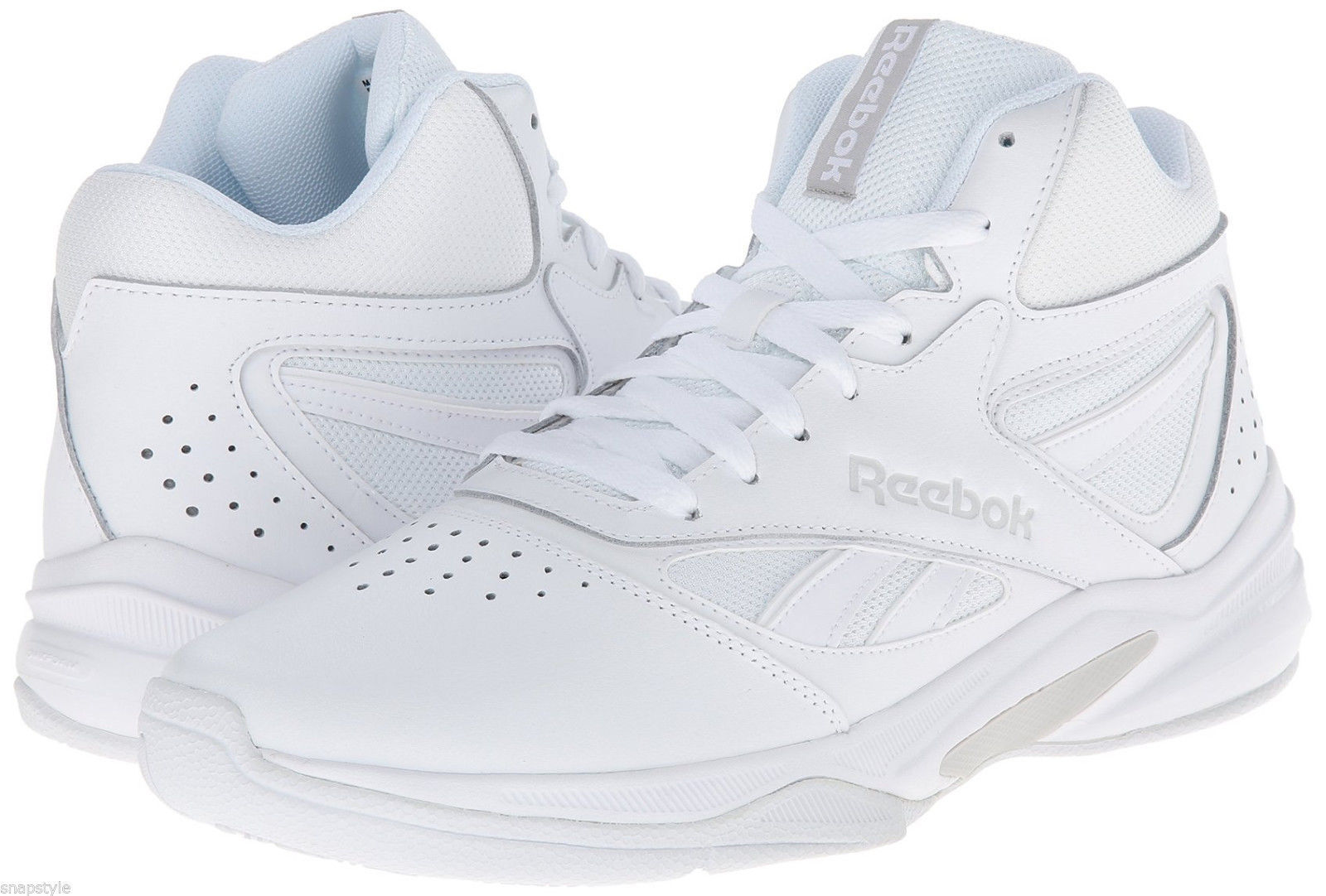 d01cb5aeaa8 Reebok Mens Mens Mens Pro Heritage Hi Top Sneakers Leather All White Sizes  New 7-15 bf58ce