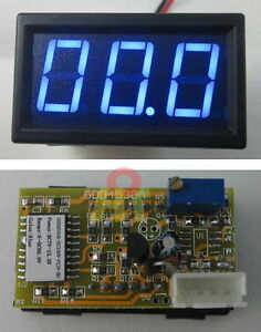 0-56-034-Blue-Volt-Meter-DC-100V-LED-Digital-Voltage-Panel-Mount-Voltmeter-0-99-9V
