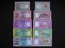 BANGLADESH  2 + 5 + 10 + 20 + 50 Taka 2011-2013  (P52 + P53a + 3 x Pnew)  UNC