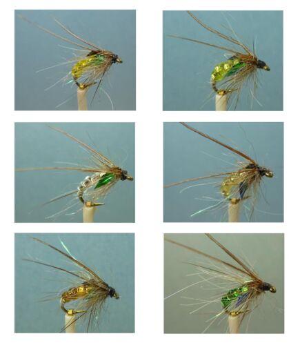 ~ Choose Patterns Artflies Bead Body Caddis Pupa Flies Sizes and Qty ~