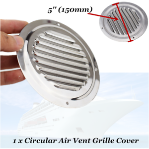 """5/""""Stainless Steel Cool Round Louvre Air Vent Ventilation Ventilator Grille Cover"""