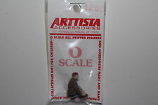 ARTTISTA O SCALE PEWTER FIGURE FOR LAYOUT, #1200 OLD MAN BENDING TYING SHOE, NEW